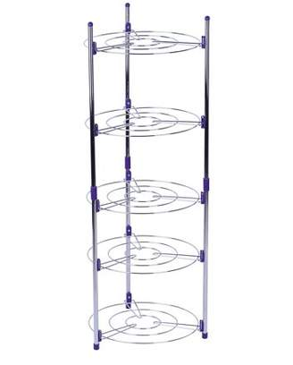 HURRISE 5 Tiers Home Kitchen Pans Pots Storage Rack Durable Metal Wire Shelving Organizer
