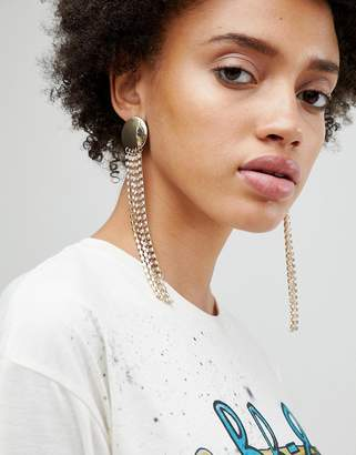 Asos Statement Disc and Jewel Strand Earrings