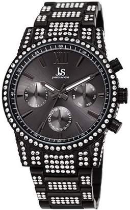 Joshua & Sons Black Dress Quartz Watch With Stainless Steel Strap [JX138BK]