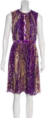 J. Mendel Silk Printed Dress w/ Tags