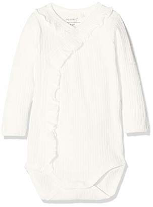 d259a8194 Name It Baby Girls' Nbftrunte Ls Wrap Body Footies, Snow White