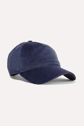 Rag & Bone Marilyn Leather-trimmed Cotton-blend Velvet-jacquard Baseball Cap - Blue