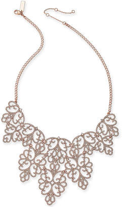"INC International Concepts I.n.c. Pave Openwork Statement Necklace, 18"" + 3"" extender"