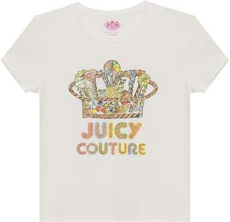 Juicy Couture Candy Crown Short Sleeve Tee for Girls