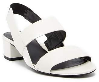 Via Spiga Tiana Leather Slingback Block Heel Sandal