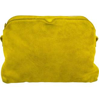 The Row Yellow Suede Handbag