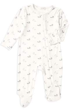 Angel Dear Unisex Fox Print Footie - Baby