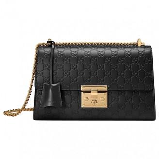 257925c4cf7335 Gucci Padlock Black Leather Handbag