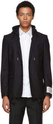 Diesel Black J-Trouble Hooded Blazer