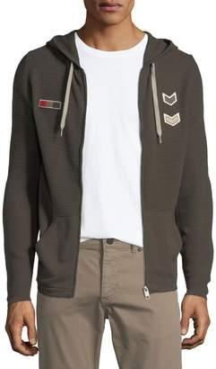 Antony Morato Men's Patchwork Zip-Front Cardigan