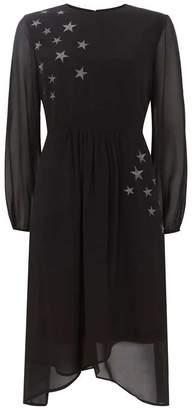 96790daaab95 Mint Velvet Black Star Embroidery Dress
