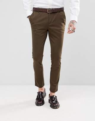 Devils Advocate Super Skinny Plain Suit Trousers