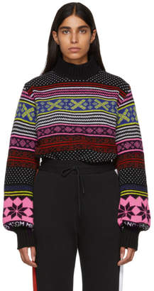 MSGM Multicolor Jacquard Turtleneck