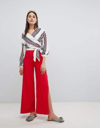 New Look Rib Side Split Pant