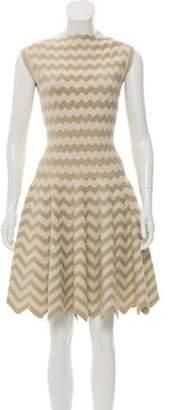 Alaà ̄a Chevron Fit & Flare Dress gold Alaà ̄a Chevron Fit & Flare Dress