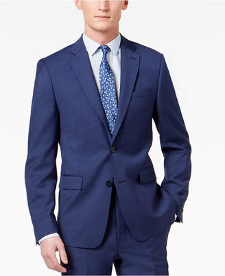 Calvin Klein Men Skinny Fit Infinite Stretch Blue Twill Suit Jacket