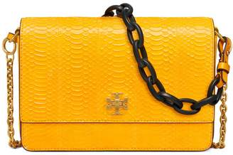 Tory Burch KIRA SNAKE DOUBLE-STRAP SHOULDER BAG