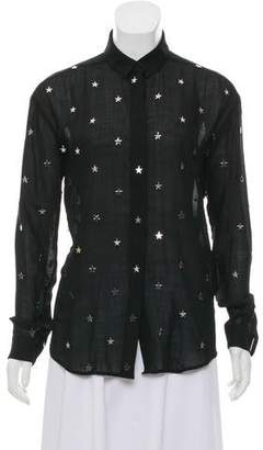 Anthony Vaccarello Embellished Wool Top