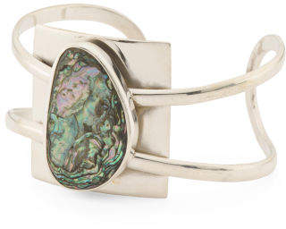 Handmade In Mexico Sterling Silver Pacific Abalone Bracelet