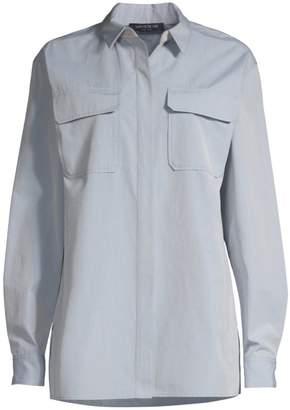 Lafayette 148 New York Everson Embellished Collar Woven Shirt