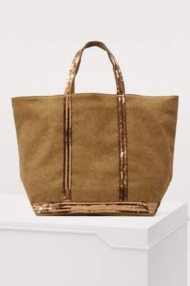 Vanessa Bruno Linen tote bag with sequins