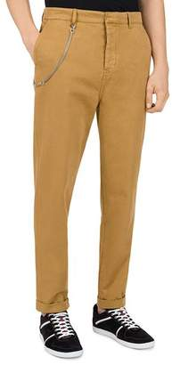 The Kooples Chain-Accent Relaxed Fit Chino Trousers