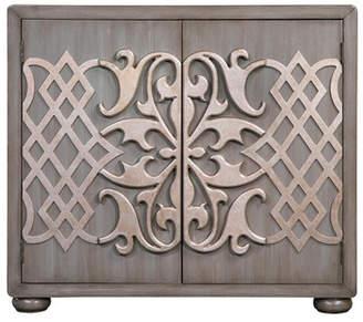 One Allium Way Pompa Metallic Overlay Bar Cabinet
