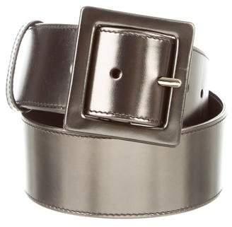 Saint Laurent Metallic Patent Leather Hip Belt