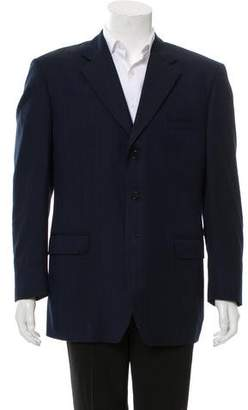 Luciano Barbera Wool Three-Button Blazer