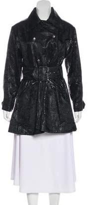 John Richmond Faux Leather Embossed Coat