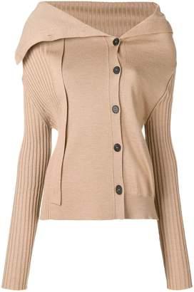 Jil Sander asymmetric long sleeved sweater