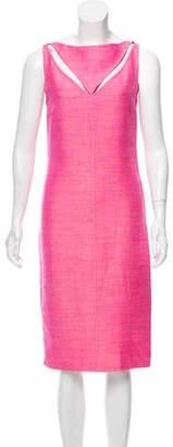 Oscar de la Renta Cutout Midi Dress