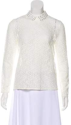 The Kooples Long Sleeve Lace Top