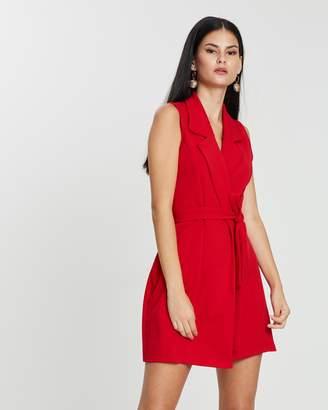 Missguided Sleeveless Blazer Dress