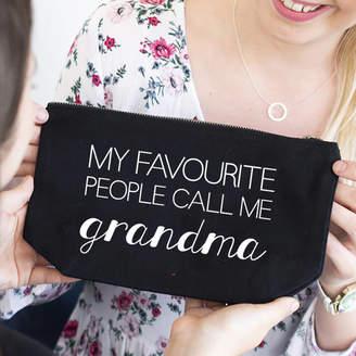 Ellie Ellie 'My Favourite People Call Me Grandma' Makeup Bag
