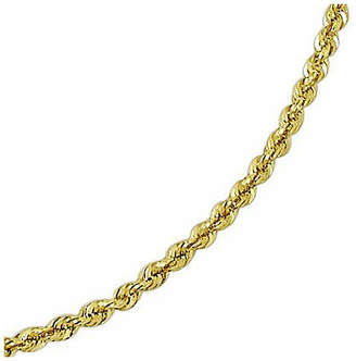 JCPenney FINE JEWELRY 14K Gold Glitter Rope 20-24 3mm Chain