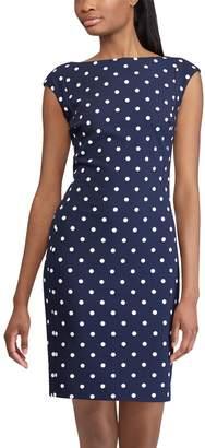Chaps Women's Polka-Dot Sheath Dress