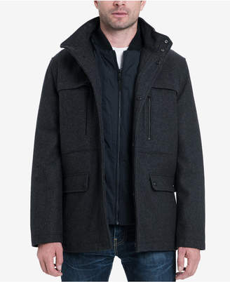 Michael Kors Men's Big & Tall Genoa Military Coat, Created for Macy's