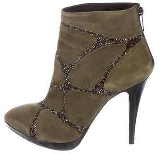 Rene Caovilla Suede Ankle Boots