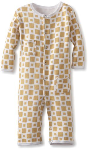 L'ovedbaby Unisex-Baby Infant Long-Sleeve Overall, Caramel, 6/9 Months