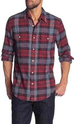 Lucky Brand Plaid Print Classic Fit Saturday Stretch Shirt