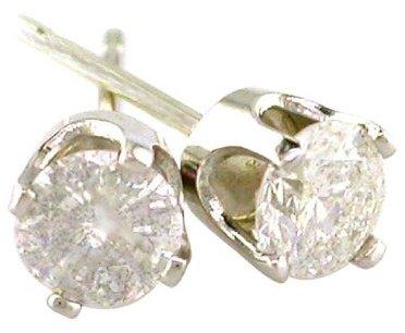 1/4 Carat Diamond Stud Earrings in 14K White Gold