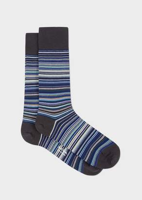 Paul Smith Men's Sky Blue Signature Stripe Socks