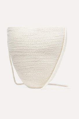Catzorange Woven Cotton Bucket Bag - Cream