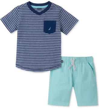 Nautica (ノーティカ) - Nautica Baby Boys 2-Pc. Cotton T-Shirt & Shorts Set