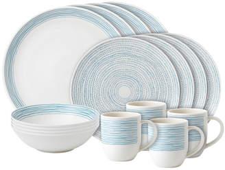 ED Ellen Degeneres By Royal Doulton 16Pc Ed Dots Porcelain Dinnerware Set