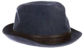 Hermes Denim Homburg Hat