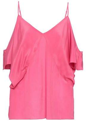 Bailey 44 Cold-shoulder Silk Crepe De Chine Top