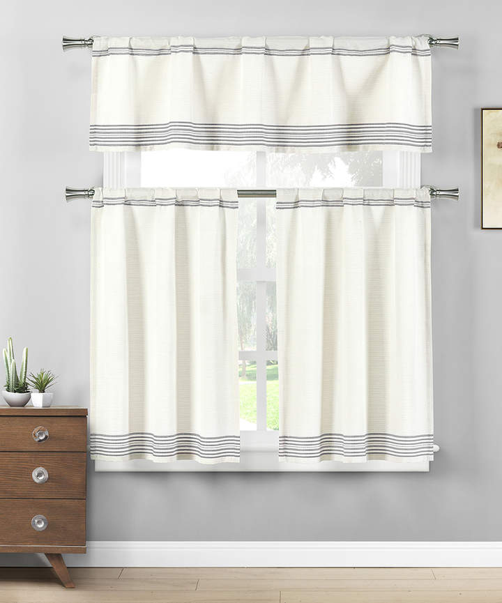 Gray Wilmont Three-Piece Curtain Panel Set