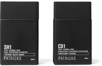 Patricks - Daily Thickening Shampoo & Stimulating Thickening Conditioner, 2x60ml - Black
